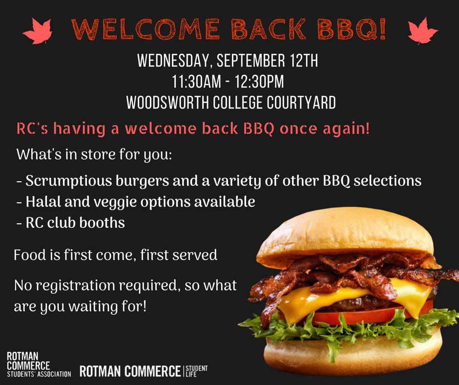 Welcome Back BBQ 1819